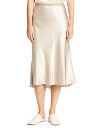 Vince Satin Bias Cut Slip Skirt Beige