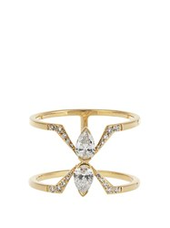 Raphaele Canot Deco Rocks Diamond And Yellow Gold Ring