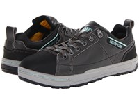 Caterpillar Brode St Dark Grey Mint Smooth Pigmented Leather Women's Industrial Shoes Black