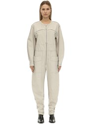 Etoile Isabel Marant Leiko Cotton Canvas Jumpsuit Ivory