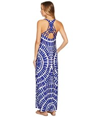 Trina Turk Algiers Long Dress Cover Up Indigo Women's Swimwear Blue