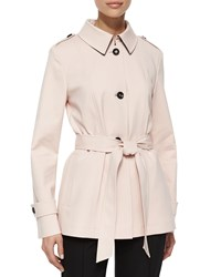 Escada Techno Belted Short Coat Gloss Pink Size 6 36
