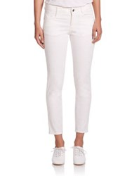 Stella Mccartney Star Embroidered Skinny Ankle Jeans White