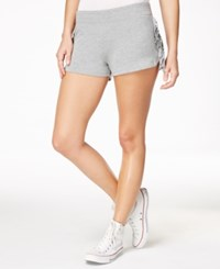 Material Girl Active Juniors' Fringe Shorts Only At Macy's Heather Charcoal