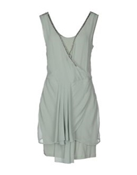 Scee By Twin Set Short Dresses Dove Grey