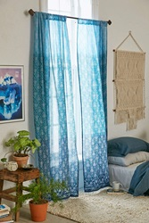 Plum And Bow Audra Ombre Curtain Blue