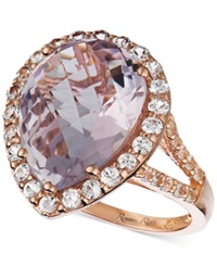 Le Vian Amethyst 8 Ct. T.W. And White Sapphire 1 1 4 Ct. T.W. Ring In 14K Rose Gold