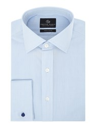Chester Barrie L S Contemp James Micro Grid Shirt D C Blue