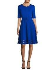 Rickie Freeman For Teri Jon Fit And Flare Cutout Dress Royal Blue