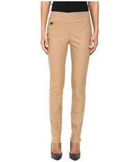 Lisette L Montreal Solid Magical Lycra Slim Pants Camel Women's Casual Pants Tan