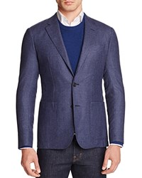 Hardy Amies Micro Check Slim Fit Sport Coat Navy