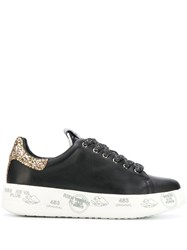 White Premiata Belle Platform Sneakers Black