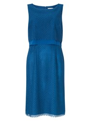 Jacques Vert Peacocks Lace Dress Blue