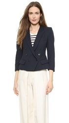Band Of Outsiders Shrunken Peak Lapel Jacket Classic Navy
