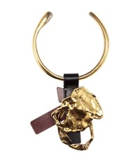 Tom Ford Gold Plated Necklace With Leather