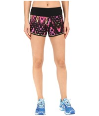 Asics Everysport Shorts Eggplant Checkered Print Women's Shorts Pink