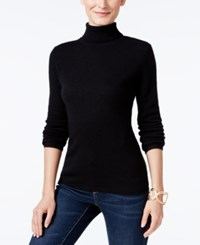 Charter Club Cashmere Turtleneck Sweater Only At Macy's 16 Colors Available Classic Black