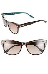 Women's Bcbgmaxazria 'Date Night' 56Mm Sunglasses Tortoise Laminate