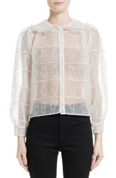 Shrimps Women's John Embroidered Organza Shirt