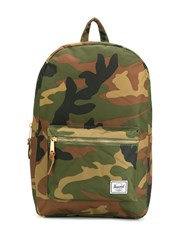 Herschel Supply Co. Settlement Camouflage Print Backpack Green