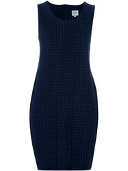 Armani Collezioni Short Jacquard Dress Blue