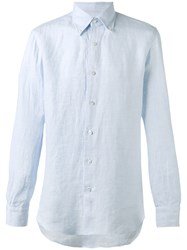Barba Chambray Shirt Blue