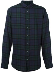 Dsquared2 Checked Flannel Shirt Blue
