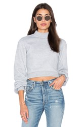 Lovers Friends X Revolve Kourtney Cropped Sweater Light Gray