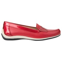 Geox Yuki Flat Loafers Red