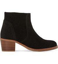 Dune Pearson Suede Ankle Boot Black