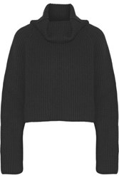 Haider Ackermann Ribbed Wool Turtleneck Sweater Black