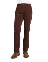 Michael Kors Straight Leg Corduroy Pants Red