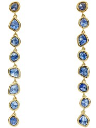 Monica Vinader Gp Siren Mini Nugget Cocktail Kyanite Earrings Gold