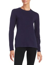 Lord And Taylor Petite Compact Tee Evening Blue