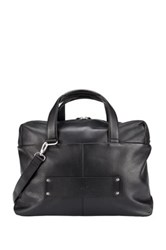 Delsey Pernety Leather Horizontal 15.6' Laptop Tote Black
