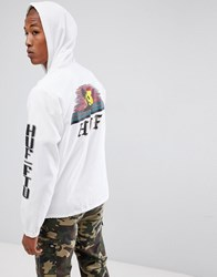 Huf Baja Lightweight Jacket With Sun Back Print In White