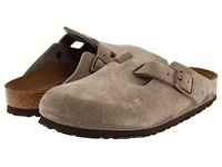 Birkenstock Boston Soft Footbed Unisex Taupe Suede Clog Shoes