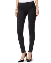 Inc International Concepts Petite Pull On Seamless Leggings Only At Macy's Dark Heather Grey