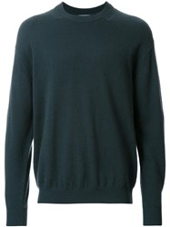 H Beauty And Youth. Ribbed Collar Knit Jumper Green
