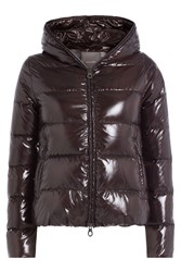 Duvetica Down Jacket With Hood Brown