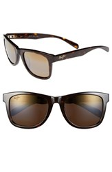 Women's Maui Jim 'Legends' 54Mm Polarized Retro Sunglasses Dark Tortoise
