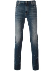 Maison Martin Margiela Distressed Skinny Fit Jeans Blue