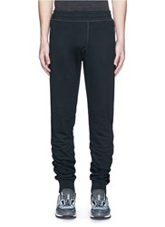 Lanvin Mesh Side Trim Cotton Jogging Pants Blue
