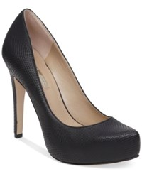 Bcbgeneration Parade Platform Pumps Women's Shoes Matte Black Snake