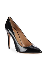 Emporio Armani Patent Leather Point Toe Pumps Brown