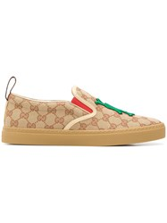Gucci La Patch Slip On Sneakers Brown