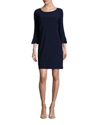 Laundry By Shelli Segal Three Quarter Sleeve Shift Dress Inkblot
