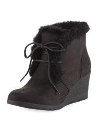 Ugg Jeovana Lace Up Wedge Bootie Black