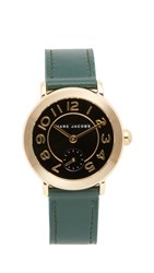 Marc Jacobs Riley Watch Gold Black Dark Green