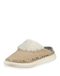 Cole Haan 2.Zerogrand Convertible Suede Slipper Mules Warm Sand